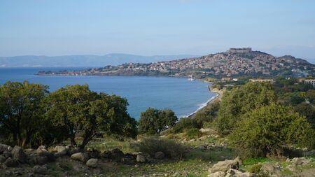greece shoreline: Molyvos Mythimna, Lesvos