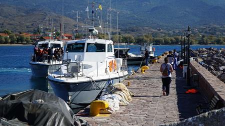 Molyvos Mythimna, Lesbos. Dieses Schiff rettete die Flüchtlinge Editorial