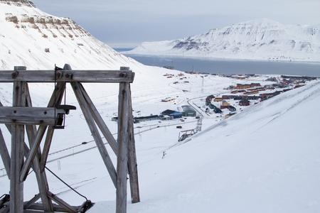 Eine Stadt Details von Longyearbyen - die nördlichste Siedlung der Welt. Spitsbergen Svalbard. Norwegen.