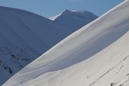 Die Berge rund um die Stadt von Longyearbyen, Spitzbergen Svalbard. Norwegen