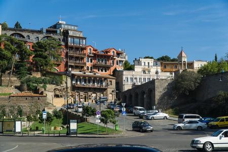TBILISI, GEORGIA-SEP 25, 2016: Europe square in the city center
