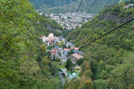 Cable car in Borjomi. Georgia, September. Standard-Bild