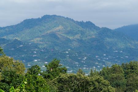 The mountain settlement near Batumi, Georgia. Banco de Imagens