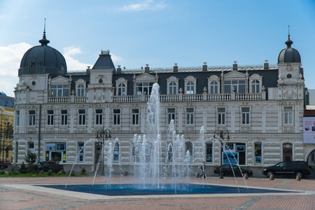 BATUMI, GEORGIA - OCT 7, 2016: The ensemble of Europe Square decorated with the fountain, on May 26 in Batumi. Editorial