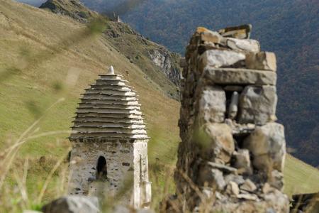 Battle towers Erzi in the Jeyrah gorge, Republic of Ingushetia Stock fotó