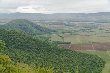 Landscape from Nekresi Monastery. Kakheti, Georgia