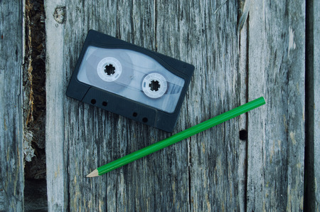 cassettes: Pencil tool to rewind the tape cassettes