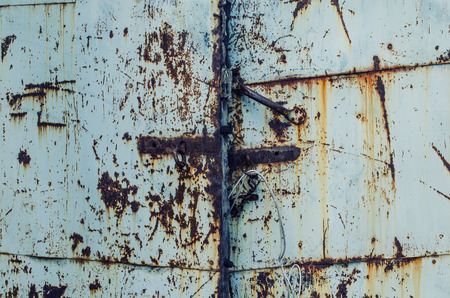 upholstered: texture , old gates , upholstered in blue iron