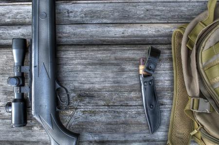Luftgewehr mit Zielfernrohr, für die Jagd Standard-Bild