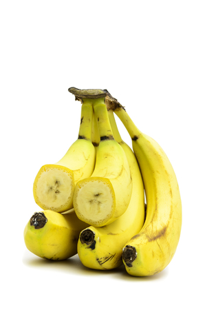 overripe: overripe bananas on a light background