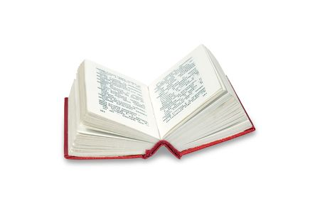 Open a small dictionary isolated on white  Stock Photo
