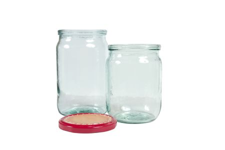 Glass jar isolated on white. Stock Photo - 7235860
