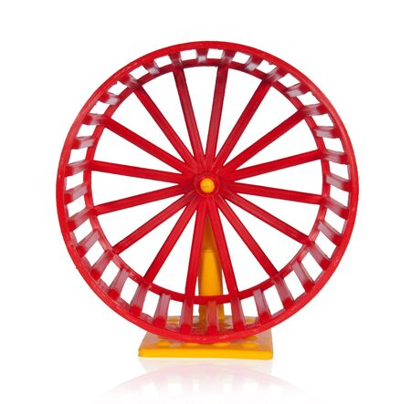 hamsters: Wheel for rodents isolated on white Stock Photo