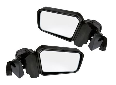side mirrors isolated on a white background Stock Photo