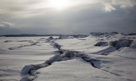 Nord majestueux paysage dans les tons sombres Banque d'images