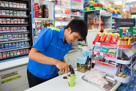 Sold in store Family Mart.Thailand. Phuket. Patong Stock Photo - 14521246