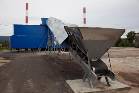 Biofuel boiler house  conveyor fuel Stock Photo - 17100254