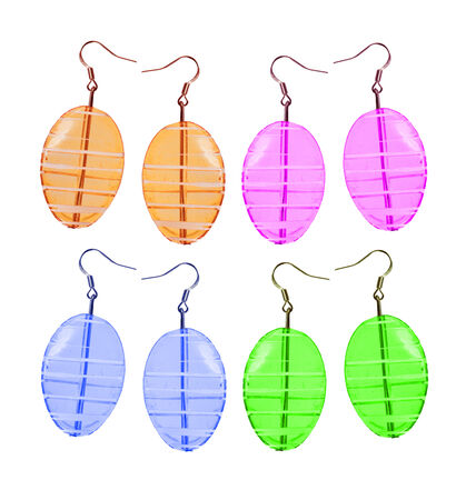 wristlets: Earrings made and glass isolated on white
