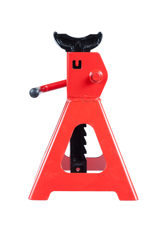 lifting jack: Jack stand isolated on white background Stock Photo