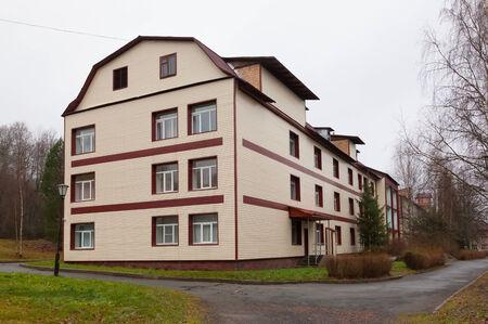 Marcial Water, RUSSIA - NOVEMBER 11, 2014: Main case of sanatorium Marcial Water. Kondopoga region Republic of Karelia.