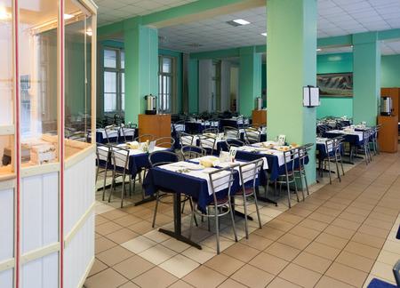Marcial Water, RUSSIA - NOVEMBER 09, 2014: The dining room of sanatorium Marcial Water. Kondopoga region Republic of Karelia.