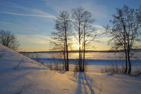 Decline of frosty day photo
