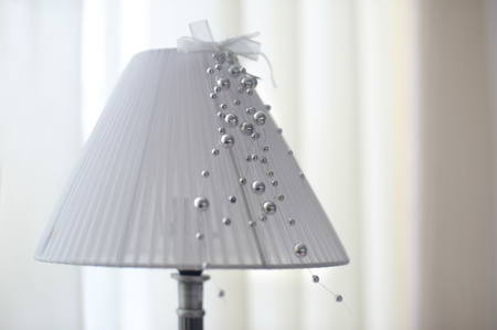 lamp shade: the lamp with the lamp shade Stock Photo