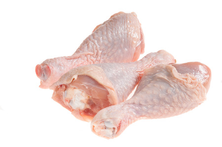 shin: Shin chicken it is isolated on a white background Stock Photo