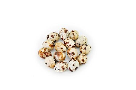 huevos de codorniz: quail eggs on white