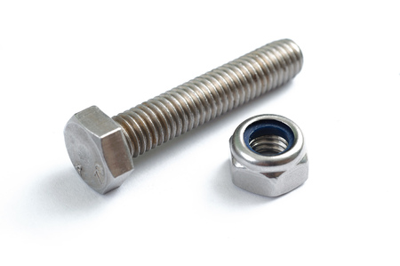 bolts and nuts: steel screw and nut