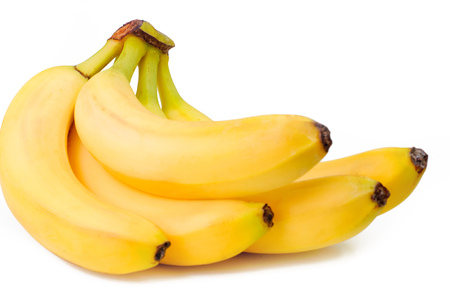 banana skin: bunch Bananas isolated