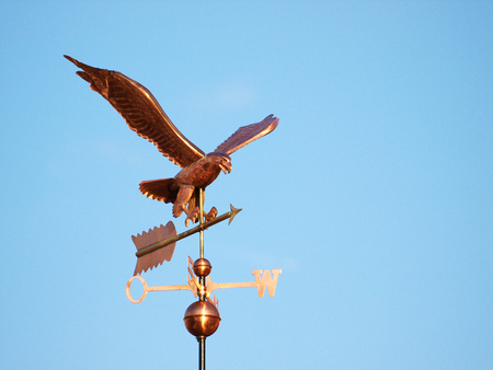 Copper Eagle weathervane on a Sunny Day