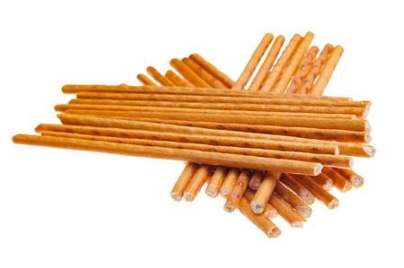 crispy straws on a white background Stock Photo