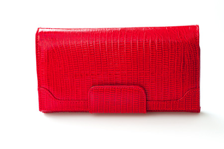 red purse (wallet) isolated on white background