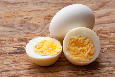 Hard-boiled egg 스톡 콘텐츠