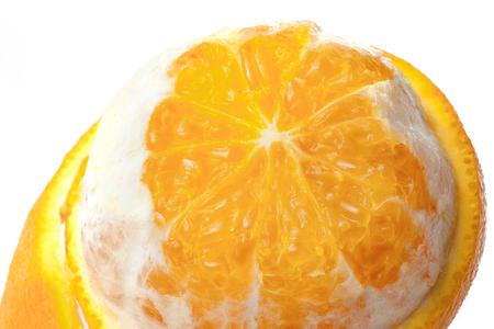 fresh orange fruit detail isolated