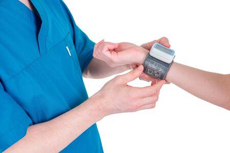 Medical equipment : digital blood pressure monitor Banque d'images
