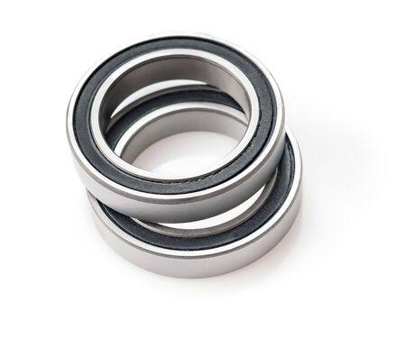 Steel bearing isolated on white background
