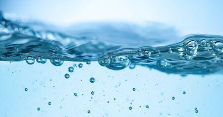 closeup of bubbles in blue water Фото со стока