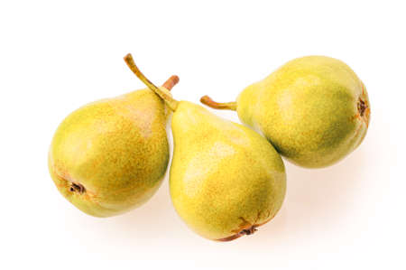 pears isolate on white background. Top view Stockfoto
