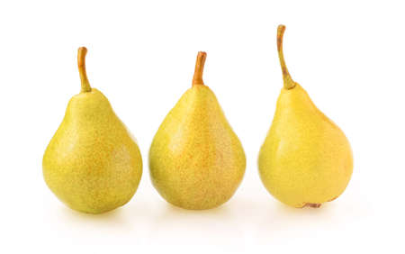 Pears isolated on white background.