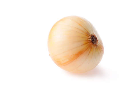 Golden onion isolate on white background