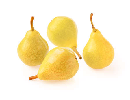 Yellow pear isolate on white background