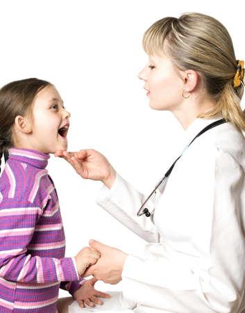 pediatrician examines little girl photo