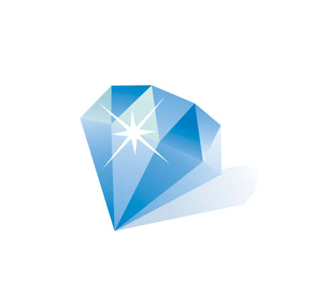 prism: Diamond vector illustration with sparkle on a white background  Illustration