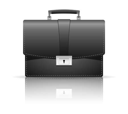 Vector illustration of black briefcase Stock Vector - 17844644