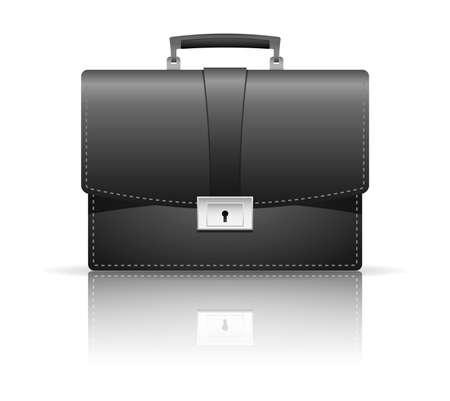 Vector illustration of black briefcase Stock Vector - 17844644