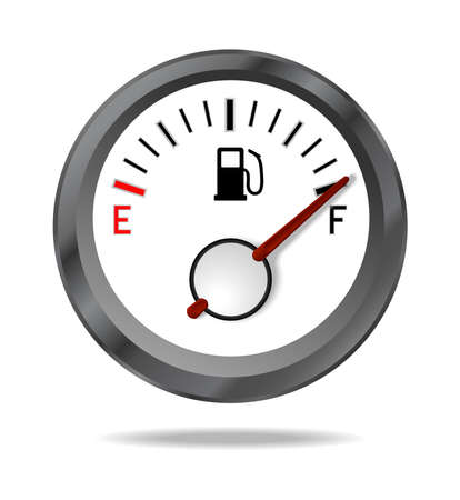 gas meter: Fuel indicator shows full fuel level