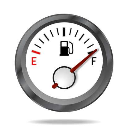 miernik: Wskaźnik paliwa pokazuje pełny poziom paliwa