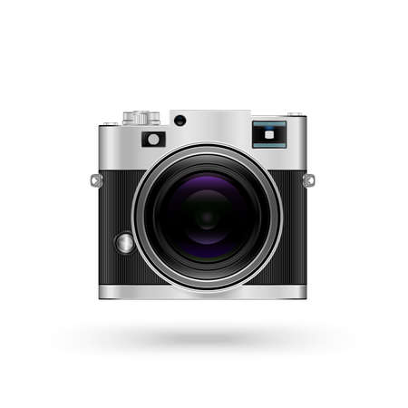 Camera icon isolated on white background Vector